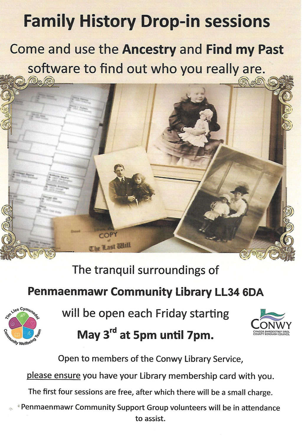 Family History Drop-in Sessions